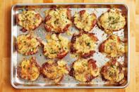 """<p>These crispy smashed potatoes are so good, you'll want to eat them straight off the pan! But they'll also taste delicious on a plate with a piece of steak. </p><p><a href=""""https://www.thepioneerwoman.com/food-cooking/recipes/a10944/crash-hot-potatoes/"""" rel=""""nofollow noopener"""" target=""""_blank"""" data-ylk=""""slk:Get Ree's recipe."""" class=""""link rapid-noclick-resp""""><strong>Get Ree's recipe.</strong></a></p>"""