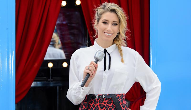 Stacey Solomon has two sons, ages 9 and 5.