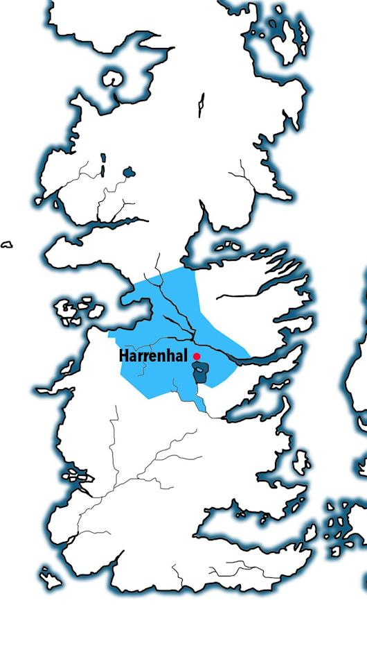 <p>Technically this kingdom included the Iron Islands, but they've been an independent kingdom on and off through Westeros' history. (They're the ones off there to the left.) </p><p>Governed from Harrenhal (where Arya served Tywin Lannister and met the Faceless Man Jaqen H'Ghar) it was ruled over by the  Iron Islands' Hoare dynasty at the time of Aegon's conquest.</p>