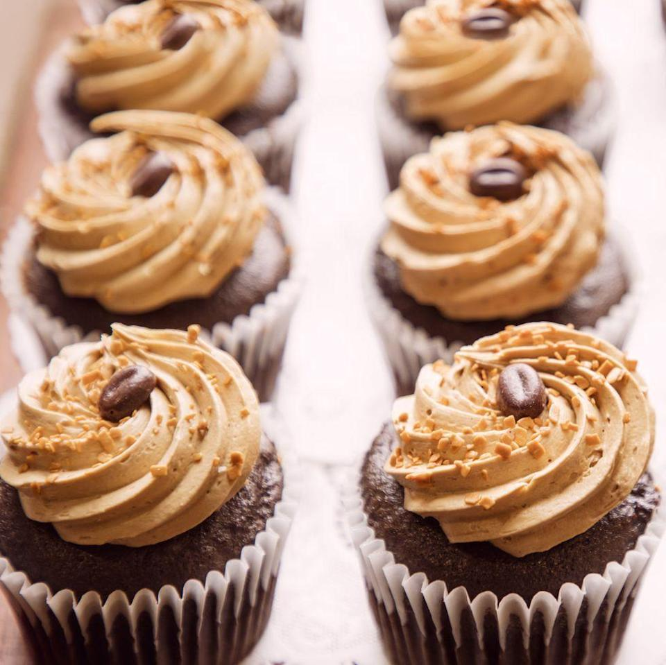 """<p>Use instant espresso powder to make the coffee-infused frosting on top of these rich chocolate cupcakes.</p><p><strong><a href=""""https://www.thepioneerwoman.com/food-cooking/recipes/a34315843/mocha-cupcakes-recipe/"""" rel=""""nofollow noopener"""" target=""""_blank"""" data-ylk=""""slk:Get the recipe."""" class=""""link rapid-noclick-resp"""">Get the recipe.</a></strong></p><p><strong><a class=""""link rapid-noclick-resp"""" href=""""https://go.redirectingat.com?id=74968X1596630&url=https%3A%2F%2Fwww.walmart.com%2Fbrowse%2Fhome%2Ffood-prep%2F4044_623679_133020_642199%3Ffacet%3Dbrand%253AThe%2BPioneer%2BWoman&sref=https%3A%2F%2Fwww.thepioneerwoman.com%2Ffood-cooking%2Fmeals-menus%2Fg35139389%2Fvalentines-day-cupcake-ideas%2F"""" rel=""""nofollow noopener"""" target=""""_blank"""" data-ylk=""""slk:SHOP MIXING BOWLS"""">SHOP MIXING BOWLS</a><br></strong></p>"""