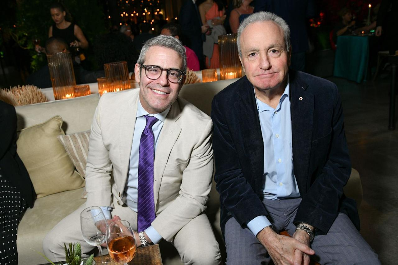 Andy Cohen and Lorne Michaels