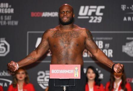 FILE PHOTO: Oct 5, 2018; Las Vegas, NV, USA; Derrick Lewis is pictured during weigh-ins for UFC 229 at T-Mobile Arena. Mandatory Credit: Stephen R. Sylvanie-USA TODAY Sports