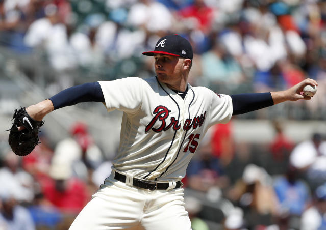 Sean Newcomb had offensive tweets surface in the middle of his no-hitter attempt. (AP Photo)