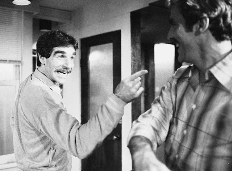 "CORRECTS DATE OF DEATH TO MARCH 19 - FILE - In this Nov. 11, 1979 file photo, Harry Reems rehearses for his legitimate theater debut in an Off-Broadway comedy-drama, ""The Office Murders,"" in New York. Reems, the former porn star who co-starred in the 1972 movie ""Deep Throat,"" died Tuesday, March 19, 2013 in Slat Lake City.  He was 65. (AP Photo/Ron Frehm, File)"