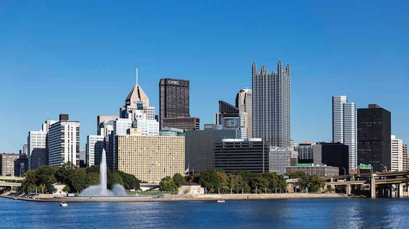 City skyline and Point State Park. (Photo by John Greim/LightRocket via Getty Images)