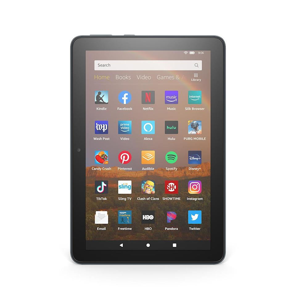 """<p>With more people working and going to school remotely, a tablet is the perfect gift to serve all of their needs. You can read, stream movies, play games, listen to music and more, plus go hands-free with Alexa on those days you have your hands full.</p> <p><b>Buy It! </b>Amazon Fire HD 8 Tablet; $109.99; <a href=""""https://www.amazon.com/Fire-HD-8-Previous-Generation-9th/dp/B0794RHPZD/ref=as_li_ss_tl?ie=UTF8&linkCode=ll1&tag=poggtechlovergiftguideawurzburgernov20-20&linkId=6b160489c08858f17f476967ce6f3002&language=en_US"""" rel=""""nofollow noopener"""" target=""""_blank"""" data-ylk=""""slk:amazon.com"""" class=""""link rapid-noclick-resp"""">amazon.com</a></p>"""