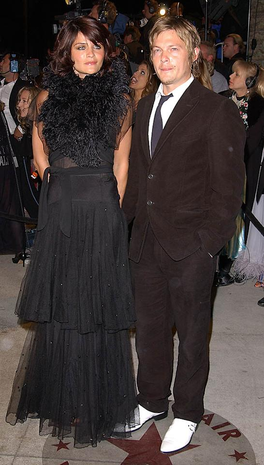 Helena Christensen and Norman Reedus attend the Vanity Fair Oscar Party at Mortons March 24, 2002 in West Hollywood, CA.