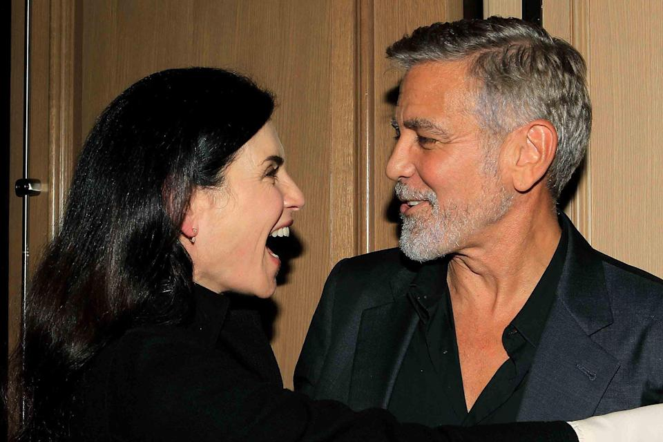 Julianna Margulies and George Clooney