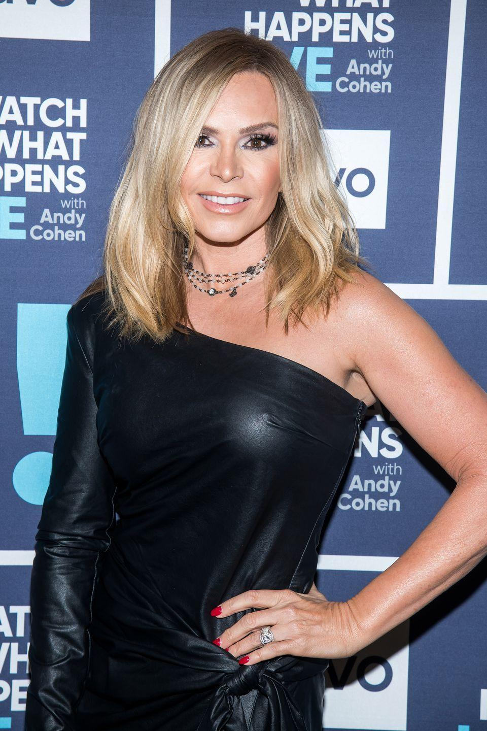 """<p>This <em>Real Housewives of Orange County</em> star is known for her amazing bikini body. She <a href=""""https://www.prevention.com/life/a28408052/tamra-judge-arm-workout-instagram/"""" rel=""""nofollow noopener"""" target=""""_blank"""" data-ylk=""""slk:works out"""" class=""""link rapid-noclick-resp"""">works out</a> at Cut Fitness and—no surprise here—recently won a <a href=""""https://healthyceleb.com/tamra-judge-workout-routine-diet-plan/50479"""" rel=""""nofollow noopener"""" target=""""_blank"""" data-ylk=""""slk:fitness competition"""" class=""""link rapid-noclick-resp"""">fitness competition</a>.</p>"""