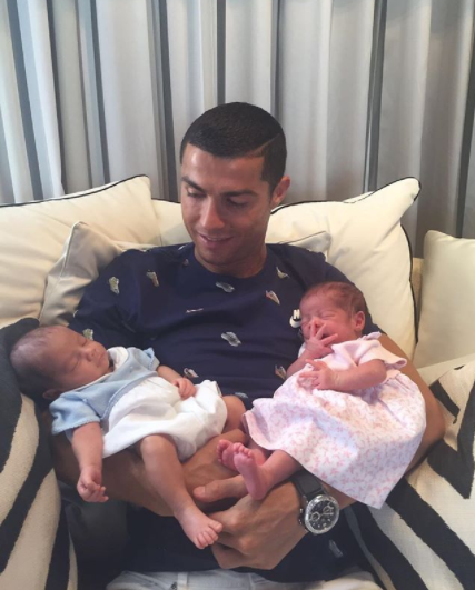 <p>Star 'soccer dad' was overjoyed with the birth of twin babies, which got him more than 8 million likes on Instagram. </p>