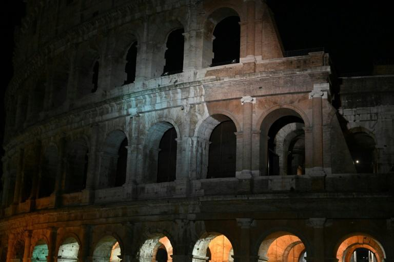 Rome's Colosseum after the lights were extinguished for Earth Hour