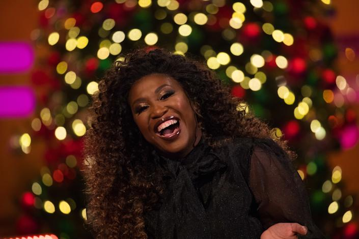 Motsi Mabuse during the filming for the Graham Norton Show at BBC Studioworks 6 Television Centre, Wood Lane, London, to be aired on BBC One on New Year's Eve. Picture date: Wednesday December 18, 2019.