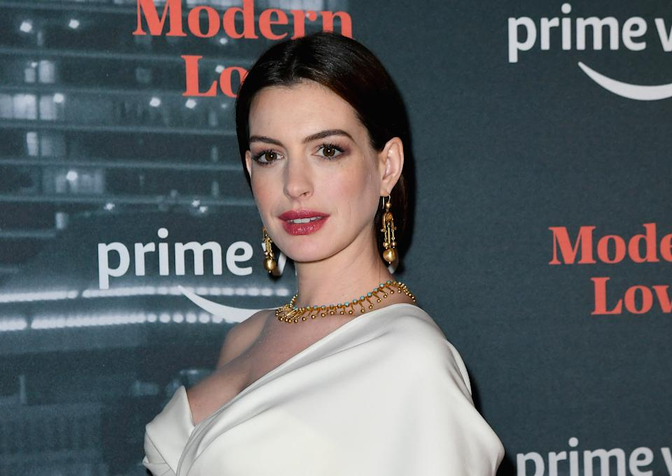 US actress Anne Hathaway attends the Amazon Prime Video