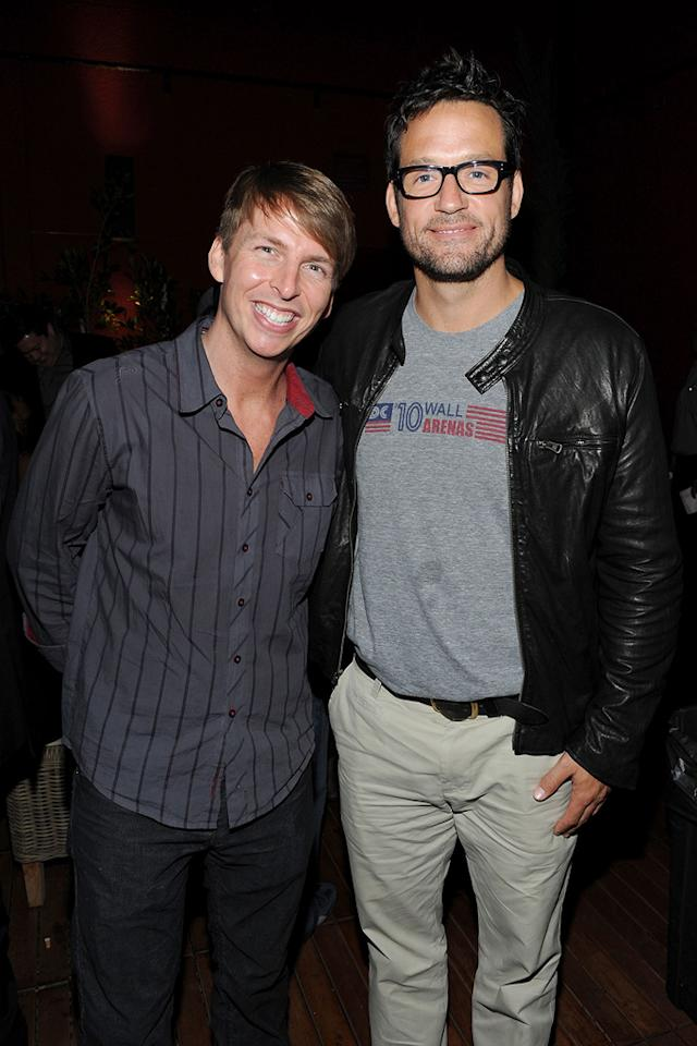 """""""30 Rock's"""" <a href=""""http://movies.yahoo.com/movie/contributor/1809572912"""">Jack McBrayer</a> and Courteney's """"Cougar Town"""" co-star Josh Hopkins were just two of the non """"Scream 4"""" stars in attendance."""