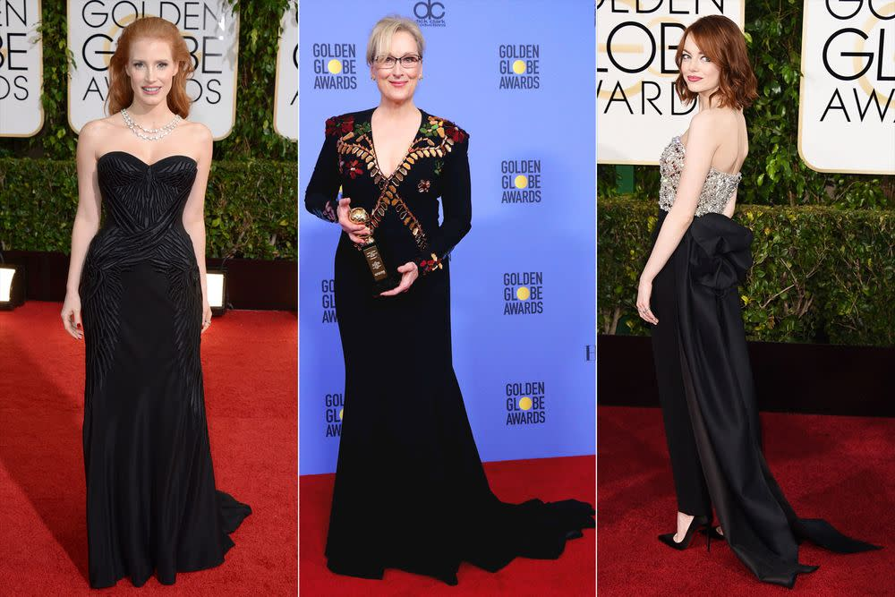 Actresses Will Reportedly Wear Black to the Golden Globes to Protest ...