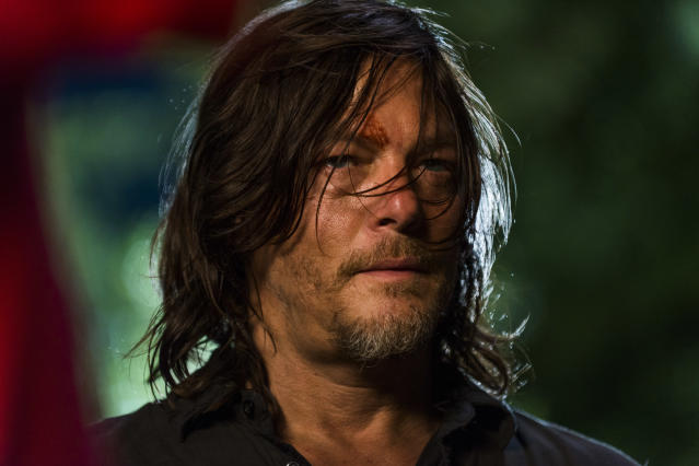 <p>Norman Reedus as Daryl Dixon in AMC's <i>The Walking Dead</i>.<br>(Photo: Gene Page/AMC) </p>