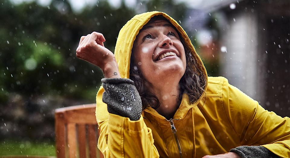 The British summer has been quite the wash out so far, which is why a lightweight waterproof is always an essential. (Getty Images)