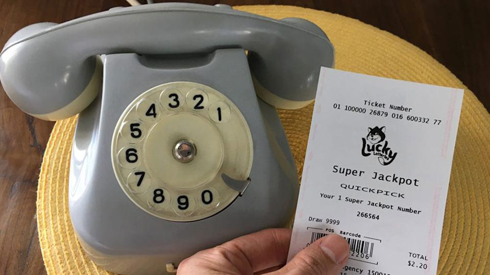 A man from Sydney's west almost ignored a life-changing phone call about his lottery win. Source: The Lott