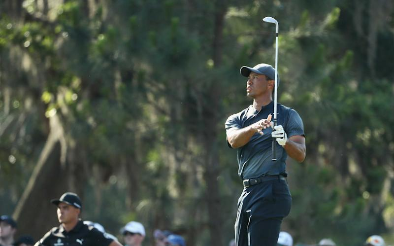 Players Championship 2018: Tiger Woods cards one-under 71, putting him  right on the cut line at ...