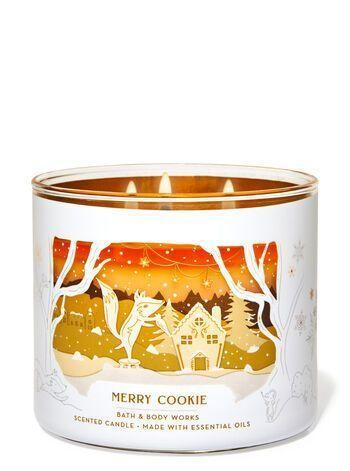 "<p><strong>Bath & Body Works</strong></p><p>bathandbodyworks.com</p><p><strong>$24.50</strong></p><p><a href=""https://www.bathandbodyworks.com/p/merry-cookie-3-wick-candle-026178261.html"" rel=""nofollow noopener"" target=""_blank"" data-ylk=""slk:Shop Now"" class=""link rapid-noclick-resp"">Shop Now</a></p><p>Pro tip: Light this one while baking. Just, do it and we can DM about it later. </p>"