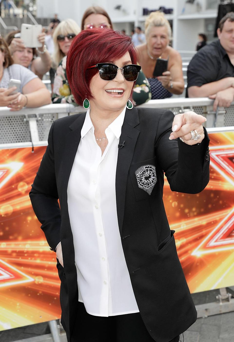 Sharon, arriving at The X Factor Bootcamp auditions at Wembley Arena in 2017. (Getty)