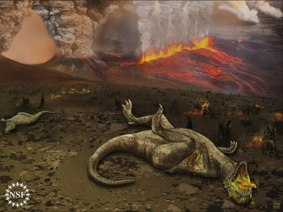 Volcanoes, Not Meteorite, Killed Dinosaurs, Scientist Argues