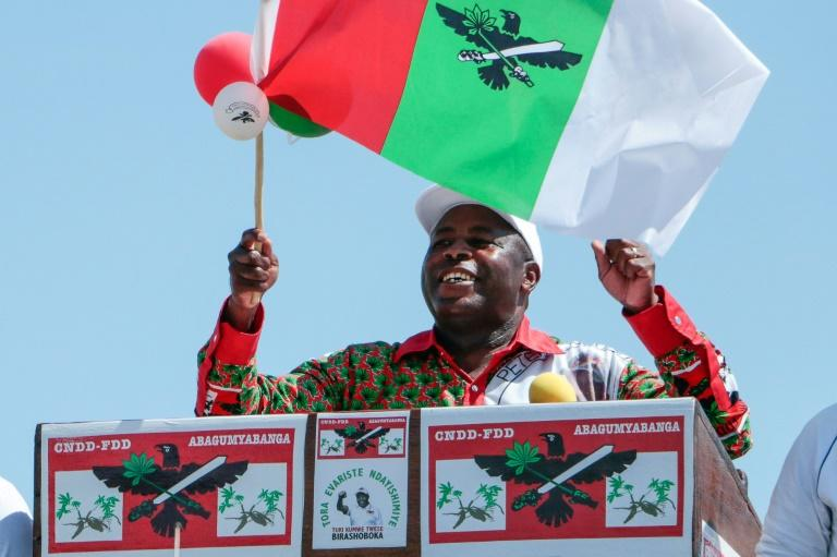 Evariste Ndayishimiye won the election to replace Nkurunziza (AFP Photo/-)