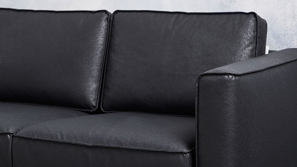 Koala black cork leather couch