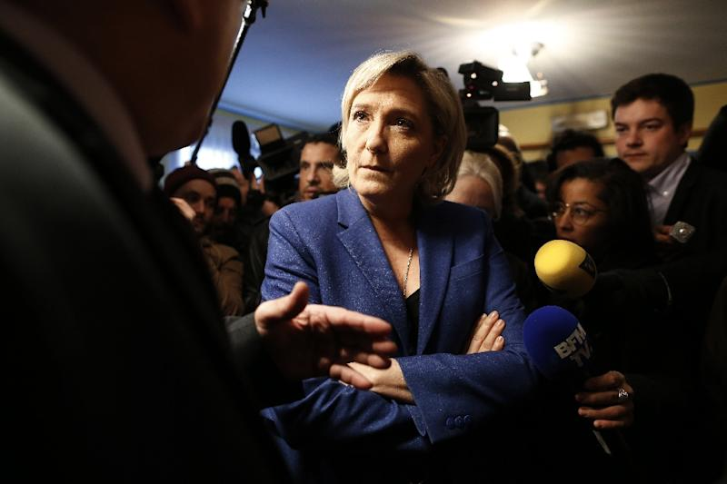 Le Pen in NY  for Unannounced Visit During French Race