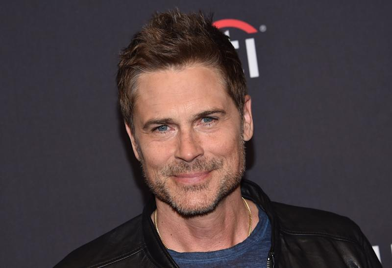 "US actor Rob Lowe arrives for the PaleyFest presentation of NBC's ""Parks and Recreation"" 10th Anniversary Reunion at the Dolby theatre on March 21, 2019 in Hollywood. (Photo by Chris Delmas / AFP) (Photo credit should read CHRIS DELMAS/AFP/Getty Images)"