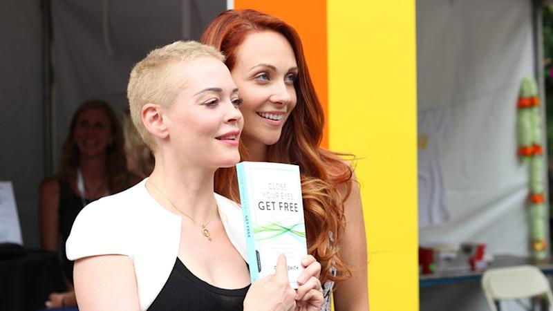 Grace Smith with actor Rose McGowan