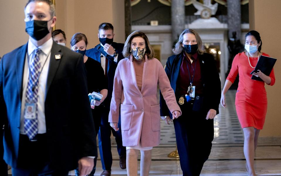 Nancy Pelosi said initially said the trial could start within days - Stefani Reynolds/Bloomberg