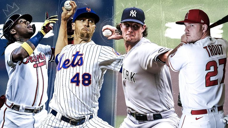 Ronald Acuna Jr., Jacob deGrom, Gerrit Cole and Mike Trout treated image 2021 MLB staff predictions
