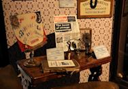 <p>A large area of the exhibit has been carved out to house the strange artifacts created for 'The Conjuring' films. (Photo: Angela Kim/Yahoo) </p>