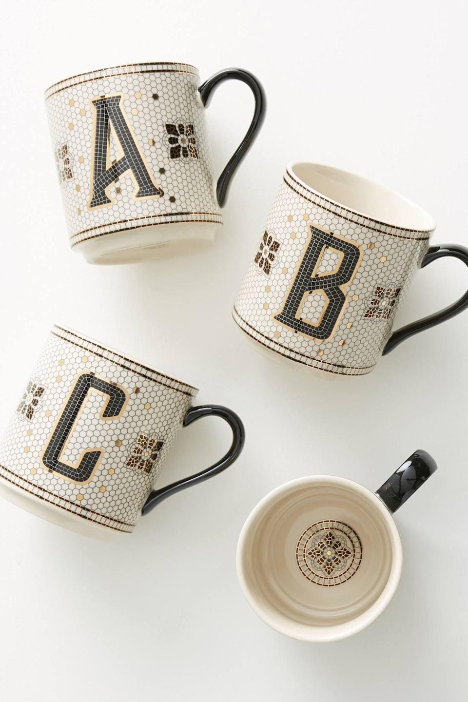 """<p><strong>Anthropologie</strong></p><p>anthropologie.com</p><p><strong>$10.00</strong></p><p><a href=""""https://go.redirectingat.com?id=74968X1596630&url=https%3A%2F%2Fwww.anthropologie.com%2Fshop%2Ftiled-margot-monogram-mug&sref=https%3A%2F%2Fwww.prevention.com%2Flife%2Fg30025627%2Fcheap-stocking-stuffers%2F"""" rel=""""nofollow noopener"""" target=""""_blank"""" data-ylk=""""slk:Shop Now"""" class=""""link rapid-noclick-resp"""">Shop Now</a></p><p>Is there such thing as too many mugs? We didn't think so, either! Anthropologie is chock filled with <a href=""""https://go.redirectingat.com?id=74968X1596630&url=https%3A%2F%2Fwww.anthropologie.com%2Fshop%2Fmonogram-mug&sref=https%3A%2F%2Fwww.prevention.com%2Flife%2Fg30025627%2Fcheap-stocking-stuffers%2F"""" rel=""""nofollow noopener"""" target=""""_blank"""" data-ylk=""""slk:adorable mugs"""" class=""""link rapid-noclick-resp"""">adorable mugs</a> that have become our go-to stocking stuffers for years, but this Tiled Margot pick is especially gift-worthy. They ooze chicness and that monogram feature gives is a personal edge that we love. <br></p>"""