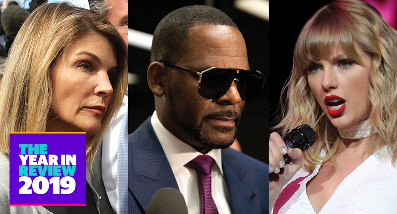 Lori Loughlin, R. Kelly and Taylor Swift (Photo: Getty Images)