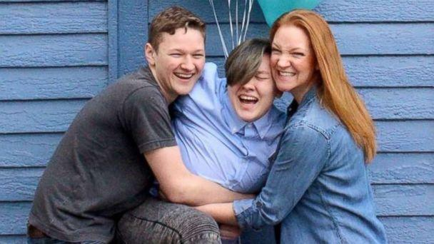 PHOTO: Adrian Brown, 20, is photographed with his mom, Heather Green and brother, Lucas Brown, 17. (Kara Davis)