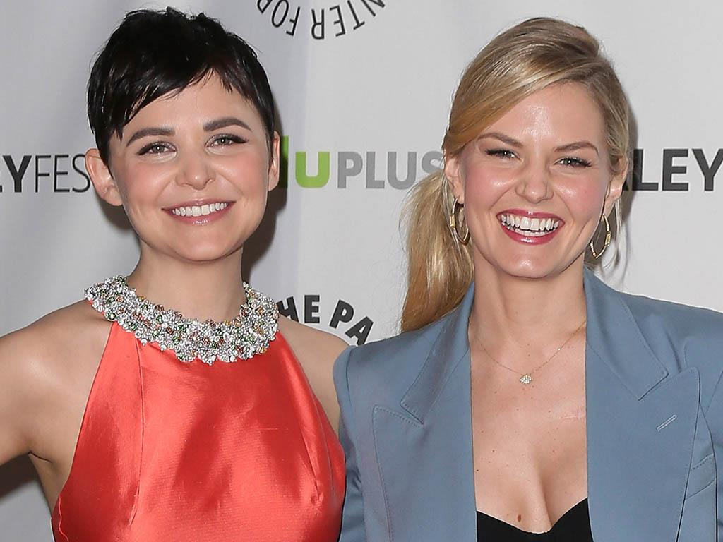 """Ginnifer Goodwin and Jennifer Morrison attend the 30th annual PaleyFest featuring the cast of """"Once Upon A Time"""" at the Saban Theatre on March 3, 2013 in Beverly Hills, California."""