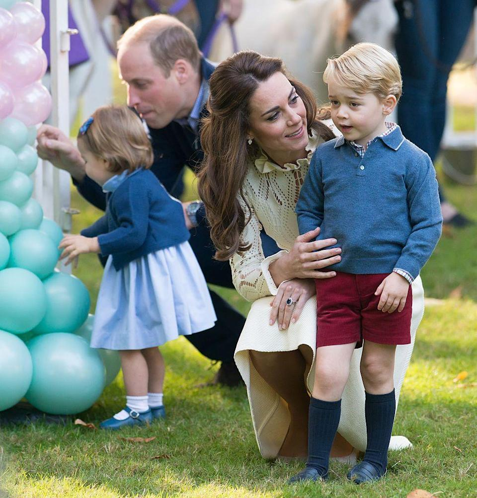 """<p>Royal children attend etiquette training """"as soon as they're old enough to sit at a table,"""" according to <a href=""""https://people.com/royals/royal-wedding-kids-behave-church/"""" rel=""""nofollow noopener"""" target=""""_blank"""" data-ylk=""""slk:etiquette expert Myka Meier"""" class=""""link rapid-noclick-resp"""">etiquette expert Myka Meier</a>. """"They are raised having formal meals, going to formal events and practicing everything from voice levels to dressing appropriately to even, of course, how to curtsy and bow,"""" she told <em><a href=""""https://people.com/royals/royal-wedding-kids-behave-church/"""" rel=""""nofollow noopener"""" target=""""_blank"""" data-ylk=""""slk:People"""" class=""""link rapid-noclick-resp"""">People</a>. </em><br></p>"""