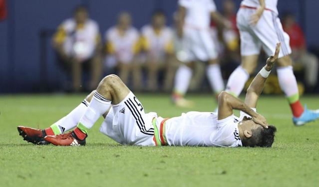 That's funny, we had the same disposition as Jesus Molina here when watching Mexico-Jamaica. (Getty)