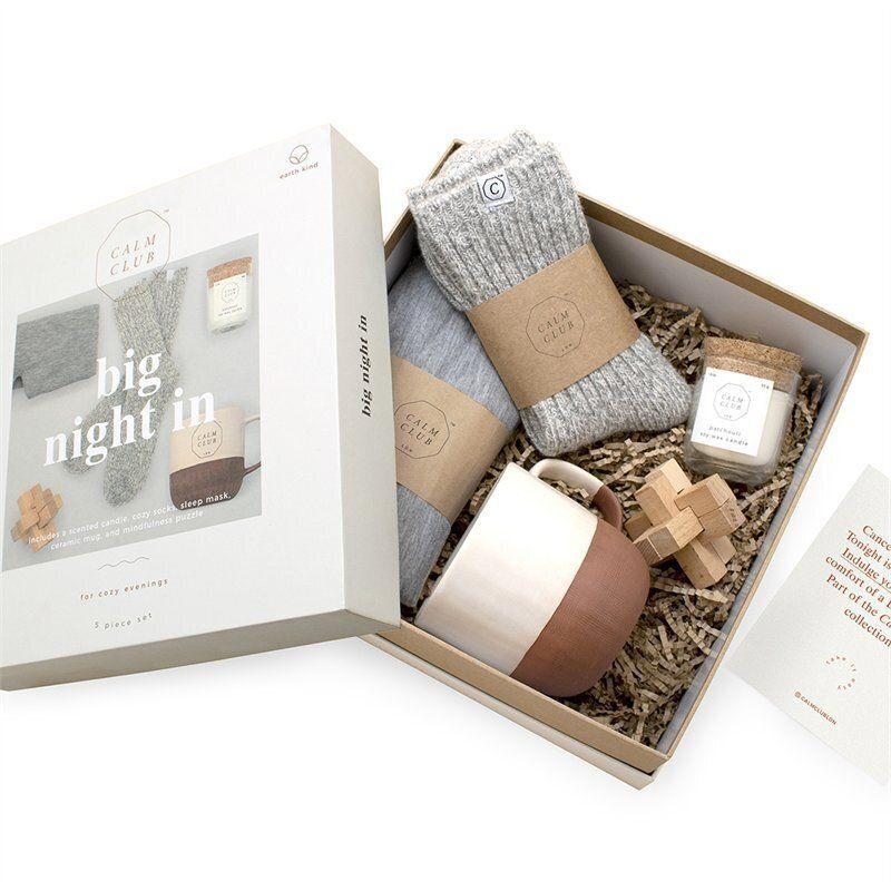 "Wool socks, padded sleep mask, mindfulness puzzle: all great ways to make sure they stay cosy, especially through the winter. Get it for $54.50 at <a href=""https://www.chapters.indigo.ca/en-ca/house-and-home/calm-club-big-night-in/5060146595292-item.html"" target=""_blank"" rel=""noopener noreferrer"">Indigo</a>."