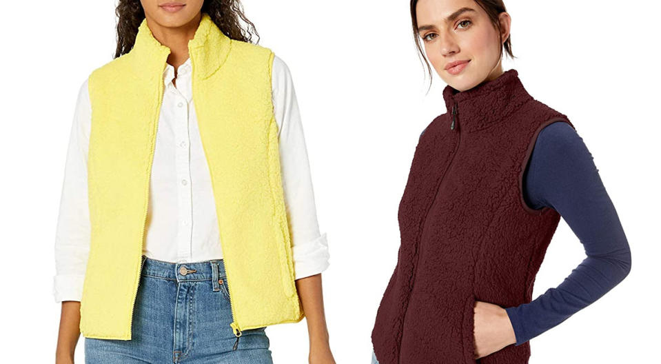 Amazon's sherpa vest comes in fun colors, patterns, and neutrals. (Photo: Amazon)