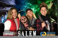 """<p>Salem basically turns into a <a class=""""link rapid-noclick-resp"""" href=""""https://www.popsugar.co.uk/Halloween"""" rel=""""nofollow noopener"""" target=""""_blank"""" data-ylk=""""slk:Halloween"""">Halloween</a> amusement park come October. Vendors are set up everywhere, and rides like Ferris wheels and mini roller coasters can be found in the common and on Washington Street (Salem's main street). I'm not going to lie, it can be pretty hectic if you're visiting just to see the history, let alone if you live there (most locals are not fans of any of it). Nevertheless, it is entertaining, so sit back and enjoy the ride.</p>"""