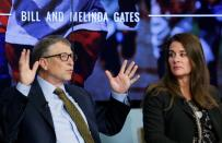 FILE PHOTO: Bill and Melinda Gates attend a debate on the 2030 Sustainable Development Goals in Brussels