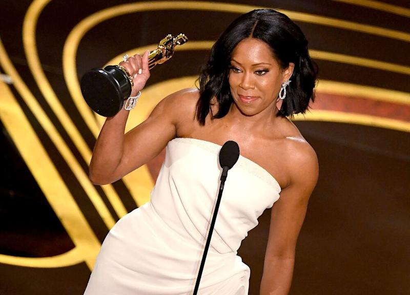 Regina King winning the 2019 Oscar for Best Supporting Actress | VALERIE MACON/AFP/Getty