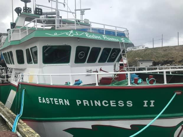 The Eastern Princess II is shown here tied to the wharf in Ship Cove, Port de Grave earlier this week, where it landed a catch of snow crab valued at nearly $400,000.