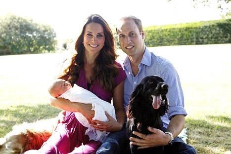 """Royal Baby Portraits: Dog Lupo """"Coping All Right"""" With George, Says Prince William"""