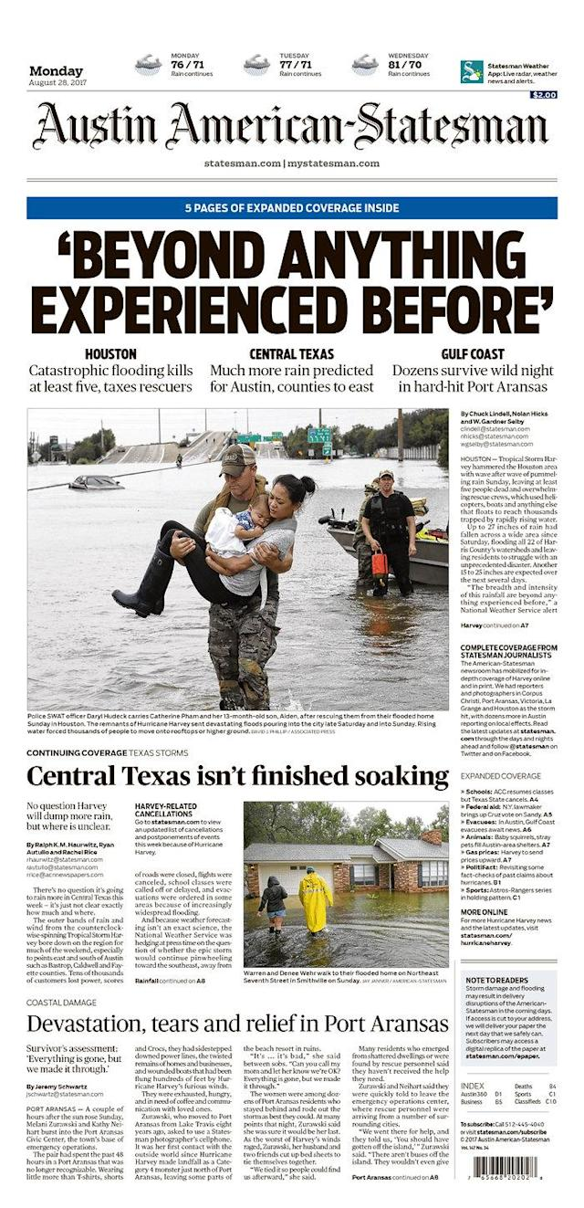 <p>Austin American-Statesman<br> Published in Austin, Texas USA. (newseum.org) </p>