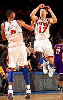 Jeremy Lin scored a career-high 38 points in the Knicks' victory over the Lakers