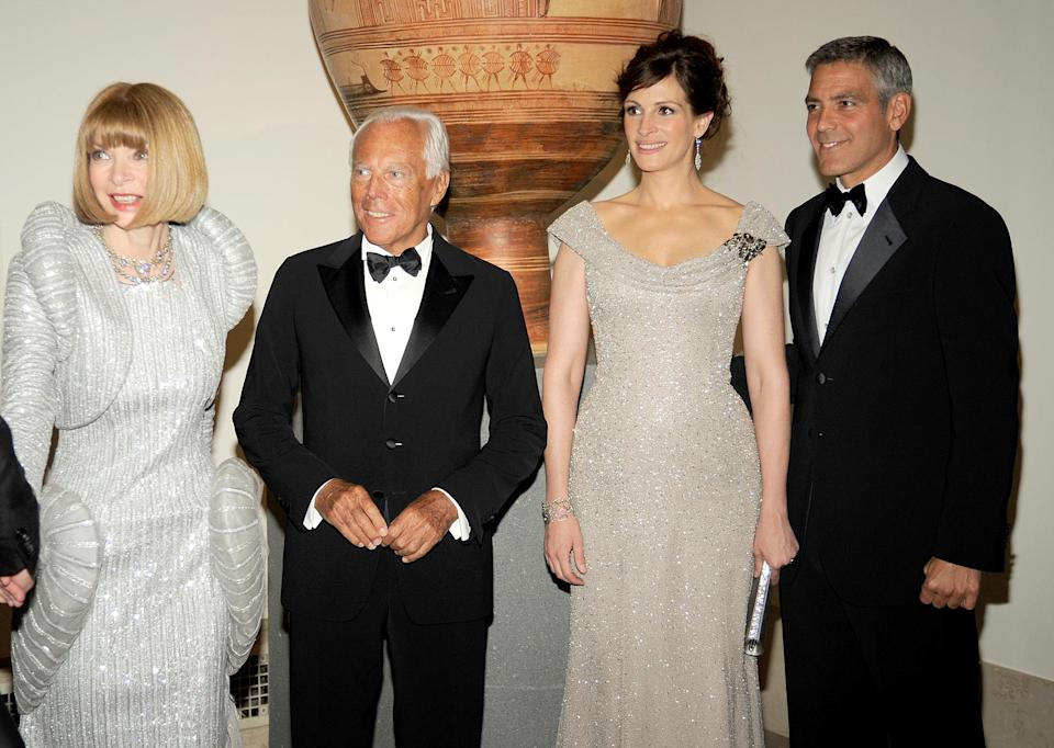 <p><strong>The theme: </strong>Superheroes: Fashion and Fantasy</p> <p><strong>The co-chairs: </strong>Anna Wintour, Julia Roberts and George Clooney </p> <p><strong>Honorary chair: </strong>Giorgio Armani </p>